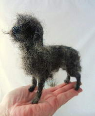 Lurcher dog Ron felted
